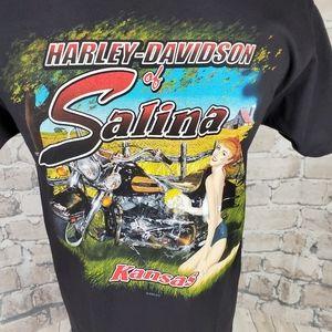 Harley Davidson Tshirt Fat Boy Medium Black